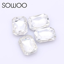 20pcs/lot 13*18mm rectangle Octagon Fancy stone Pointed back glass crystal color stone For Choice Jewelry Making,DIY dress