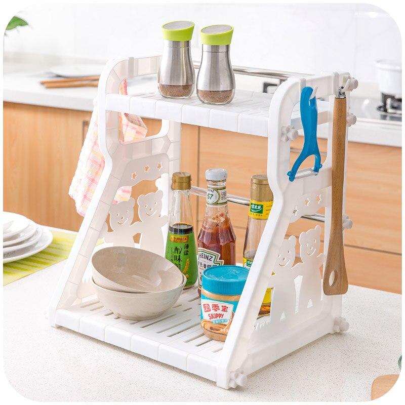 Kitchen Cruet Condiment Racks Countertops Finishing 2nd Floor Storage Rack China