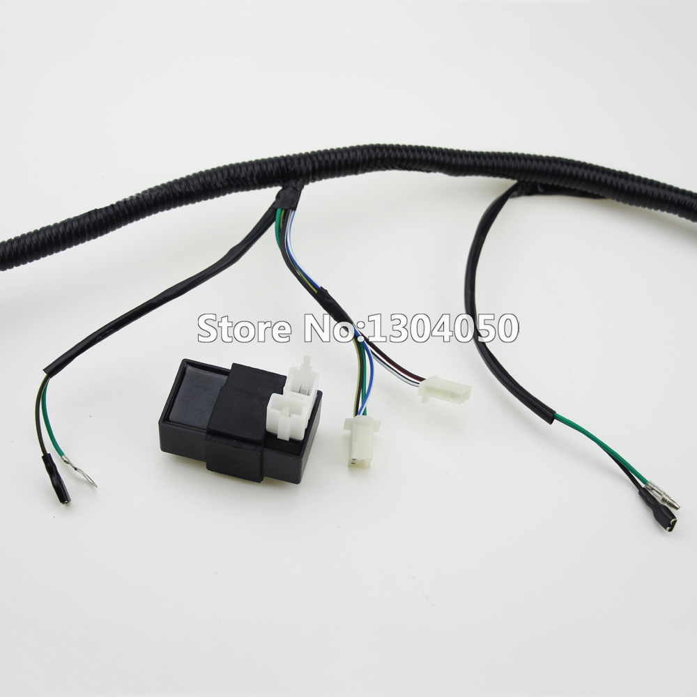 200cc 250cc Quad Full Electrics Wiring Harness Cdi Coil D8ea Gy6 Chinese Atv Solenoid Rectifier Zongshen Loncin In Motorbike Ingition From Automobiles Motorcycles On