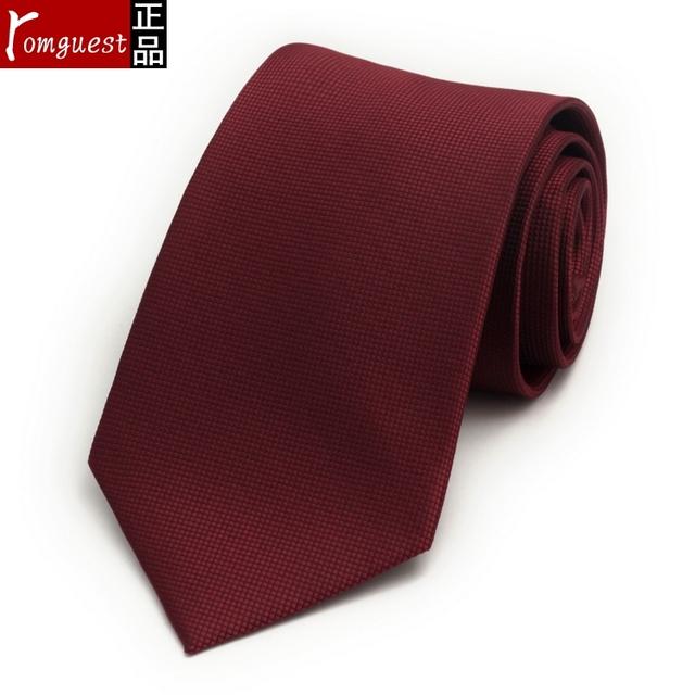 2016 verano nueva 9 cm lazo del color sólido puro novio Casado lazo de los hombres de negocios corbata roja