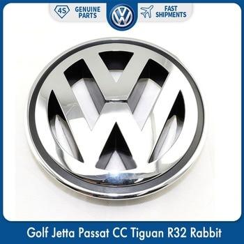 150MM Chrome 1K5853600MQH Front Radiator Grille Emblem Car Accessories For VW Volkswagen Golf Jetta Passat CC Tiguan R32 Rabbit 125mm chrome 1t0 853 601 a front radiator grille emblem car logo badge for vw jetta gli gti eos rabbit 2006 2009 1t0853601a