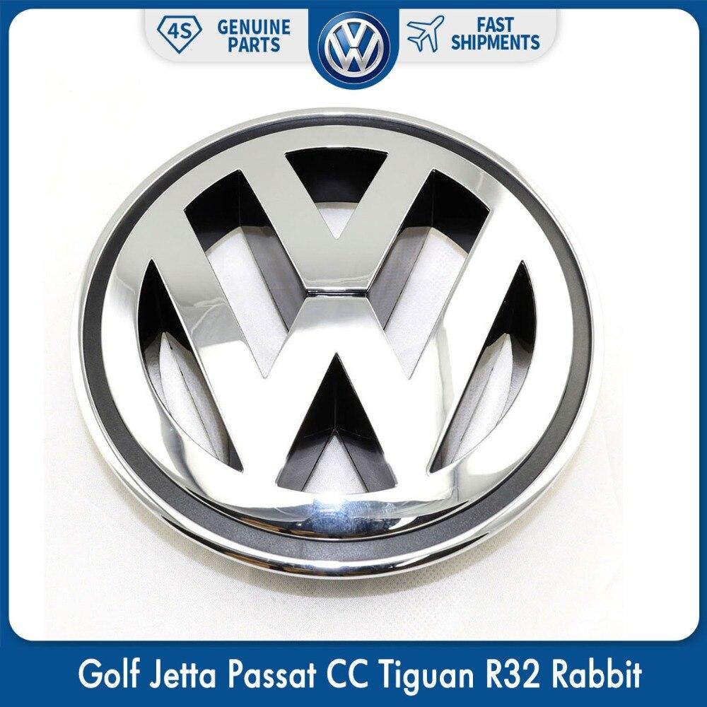 150mm Chrome 1K5853600MQH Frente Emblema Grade Do Radiador Acessórios Do Carro Para VW Volkswagen Golf Jetta Passat CC Tiguan R32 Coelho