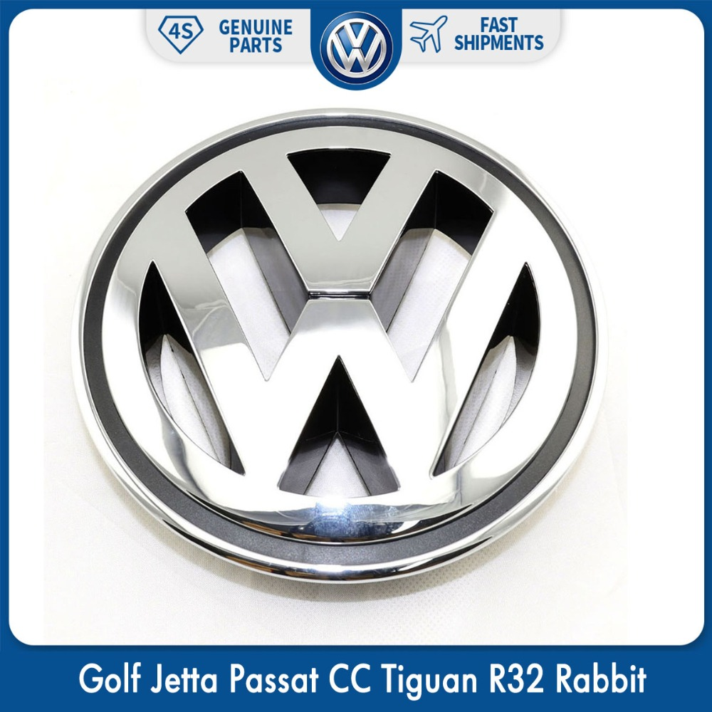 150mm cromo 1K5853600MQH frente rejilla del radiador emblema de coche accesorios para VW Volkswagen Golf Jetta Passat CC Tiguan R32 conejo