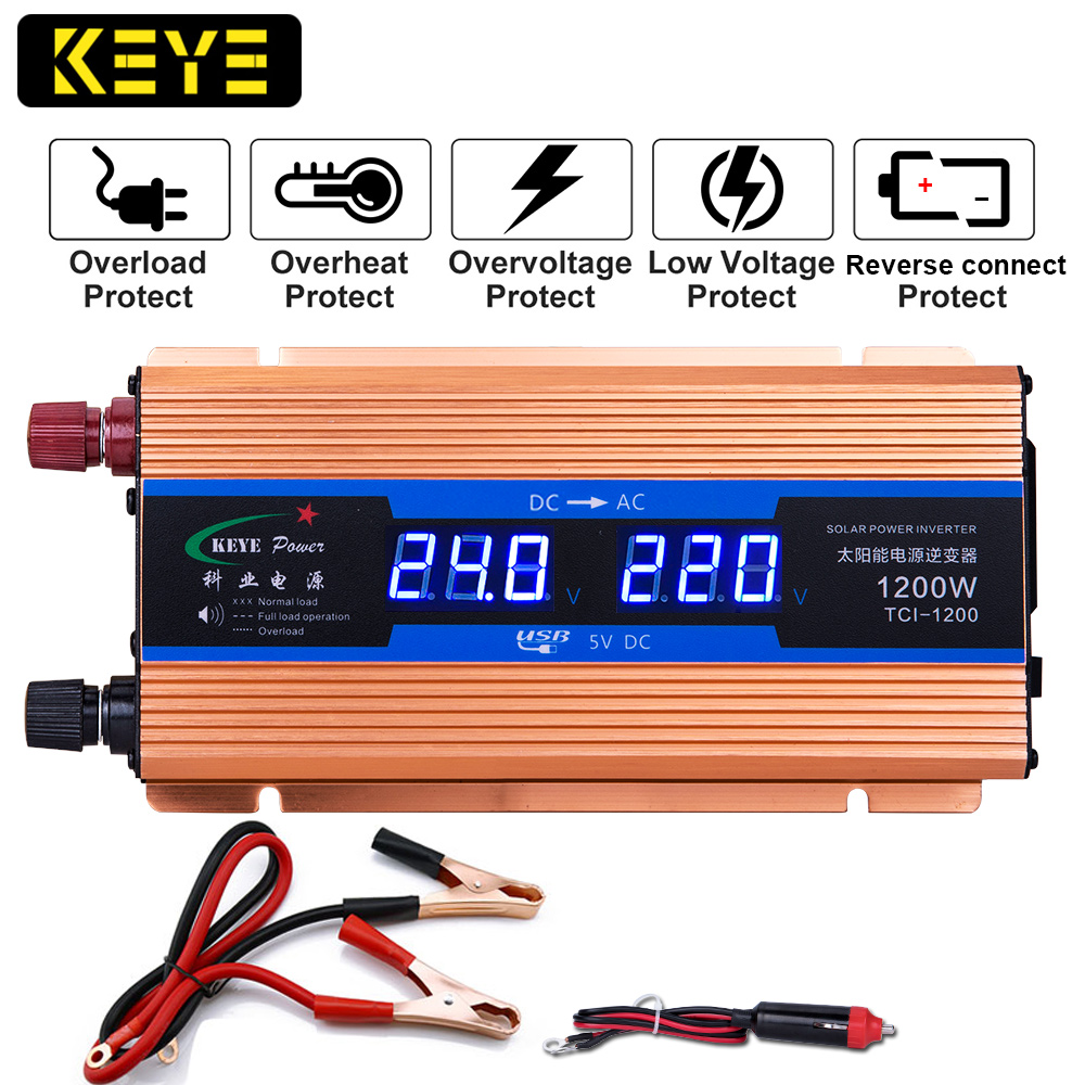 Inverter 24v 220v 500w Pure Sine Wave Input 24 V Output 220 Volt Ac Home Wiring 1200w Power Voltage Converter Dc To Solar