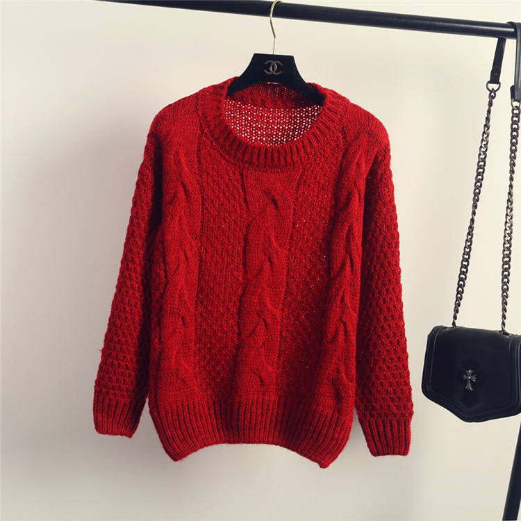 Winter Women Vintage Fisherman Sweater Style Cable Knit Jumper for ...