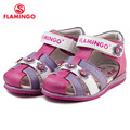 FLAMINGO famous brand 2016 New Arrival Spring & Summer Kids Fashion High Quality sandals for girls 61-QS121