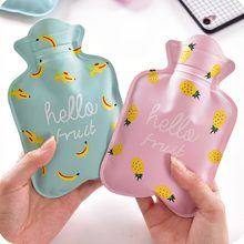 Cartoon Printed Mini Hot Water Bottles Water Injection Explosion-proof Warm Heater Bag(China)