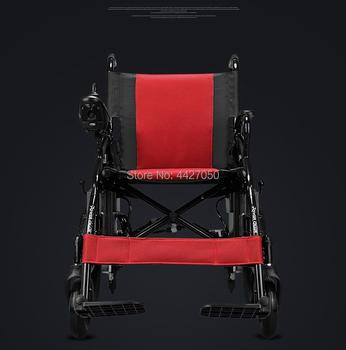 Free shipping cheaper best price  2019   fashion 250W dual motor  folding electric wheelchair
