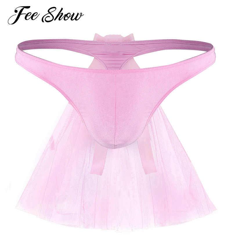 c78122569c Feeshow Men Gay Underwear Lingerie Sissy Panties Briefs G-strings  Breathable Bridal Wedding Bikini G