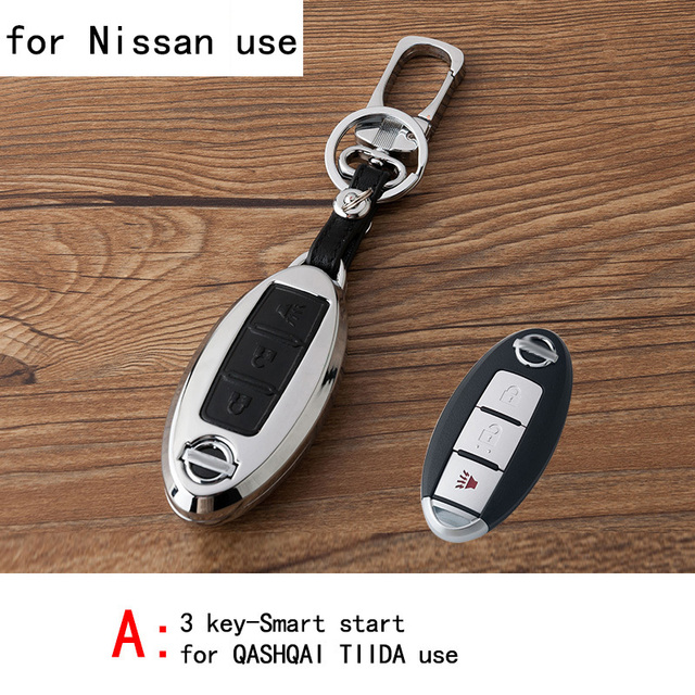Genuine Leather CAR KEY CASE For NISSAN QASHQAI TIIDA NEW SYLPHY TEANA SUNNY LIVINA Use Automobile Special-purpose CAR KEY HOLDE