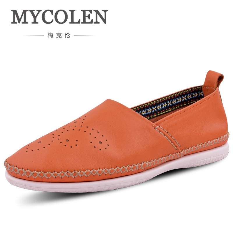 MYCOLEN Causal Shoes Men Loafers High Quality Leather Moccasins Men Driving Shoe Flats For Brogue Shoes Men Sapatos Homens аксессуар чехол книга asus zenfone 4 max zc554kl innovation book silicone gold 11550