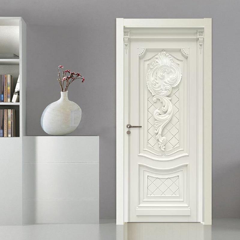 3D Wallpaper European Style Embossed Flowers Murals Living Room Kitchen Door Sticker PVC Self Adhesive Waterproof Wall Paper 3 D