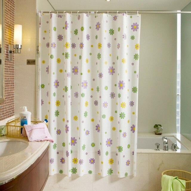 180200cm Frosted PEVA Waterproof Mildew Starfish Flowers Shower Curtain Bathroom Separated Bath Screens 12pcs Hooks