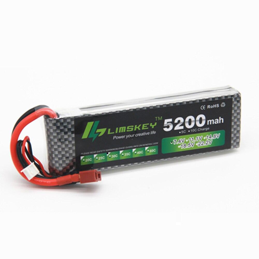 Limskey Power 7.4V 5200mAh Lipo Battery 30C 2S Battery 2S LiPo 7.4 V 5200 mAh 30C 2S 1P Lithium-Polymer Batterie For RC carLimskey Power 7.4V 5200mAh Lipo Battery 30C 2S Battery 2S LiPo 7.4 V 5200 mAh 30C 2S 1P Lithium-Polymer Batterie For RC car
