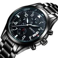 GIMTO Brand Men S Watches Business Quartz Watch Luminous Waterproof 50M Steel Strap Relogios Masculinos