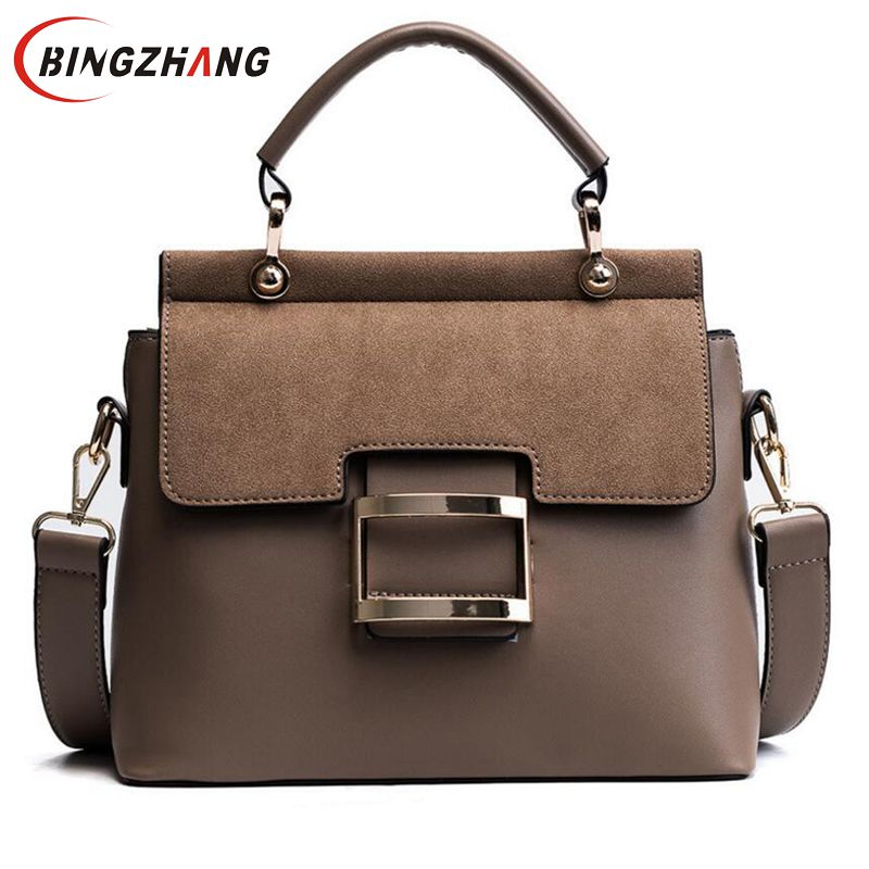 2019 New High Quality Women Messenger Bags Metal Hasp Female Shoulder Bags Fashion Women Handbags Tote Briefcase  L8-98