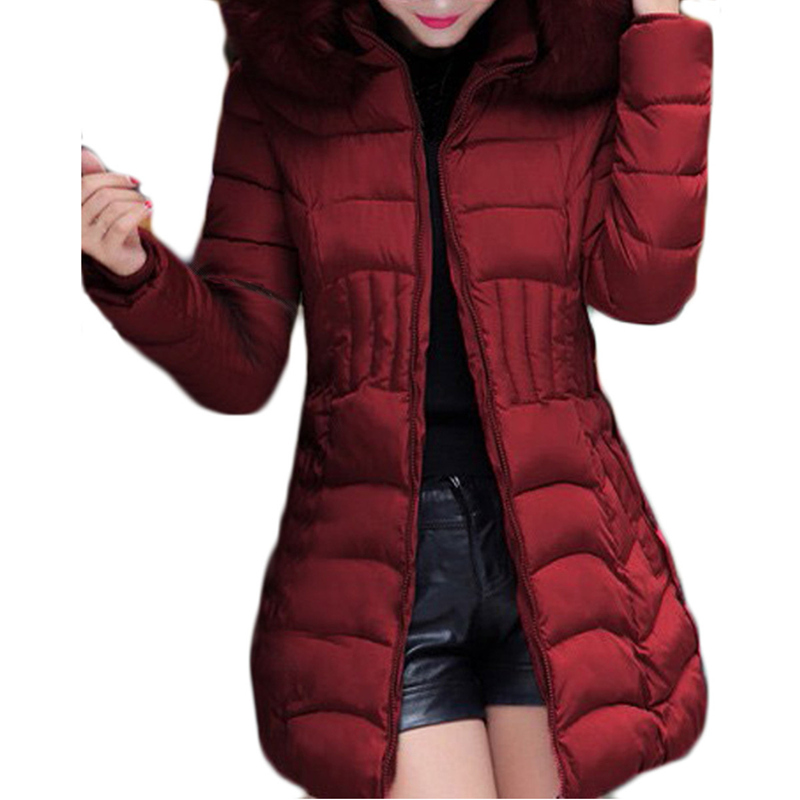 2017 New Long Parkas Women Winter Coat Thicken Female Cotton Jacket Faux Fur Collar Womens Puffer Coats Overcoat Plus Size 4XL hijklnl 2017 new winter female cotton jacket long thicken coat casual korean style women parkas overcoat hyt002