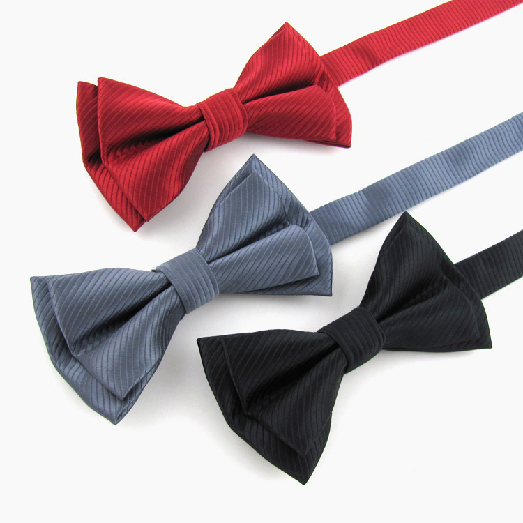 Free Shipping  Leisure Fashion Men's Adjustable Solid Bowtie Groom Party Formal Neckwear High Quality Business Cravat Butterfly