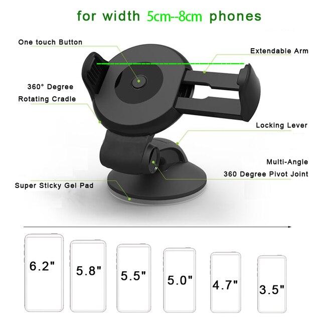 EVOLOU Car Phone Holder Automobiles & Motorcycles Unisex color: Air Vent Holder|Black
