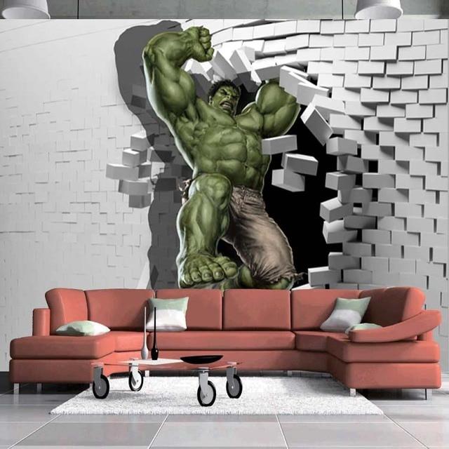 Wall Design Painting 3d : Aliexpress buy d avengers photo wallpaper custom