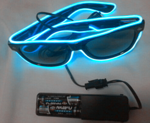Free Shipping 50pcs/lot Sound Music Voice Activate led glasses El Wire Glow Sun Glasses  ...