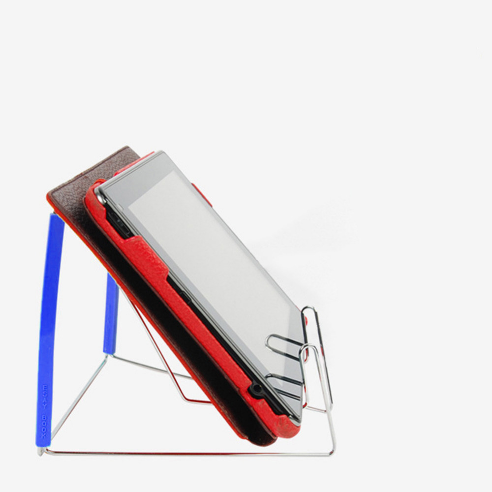 Adjustable Angle Stainless Steel Reading Holder Notebook Students Storage Foldable Document Multifunction Portable Book Stand
