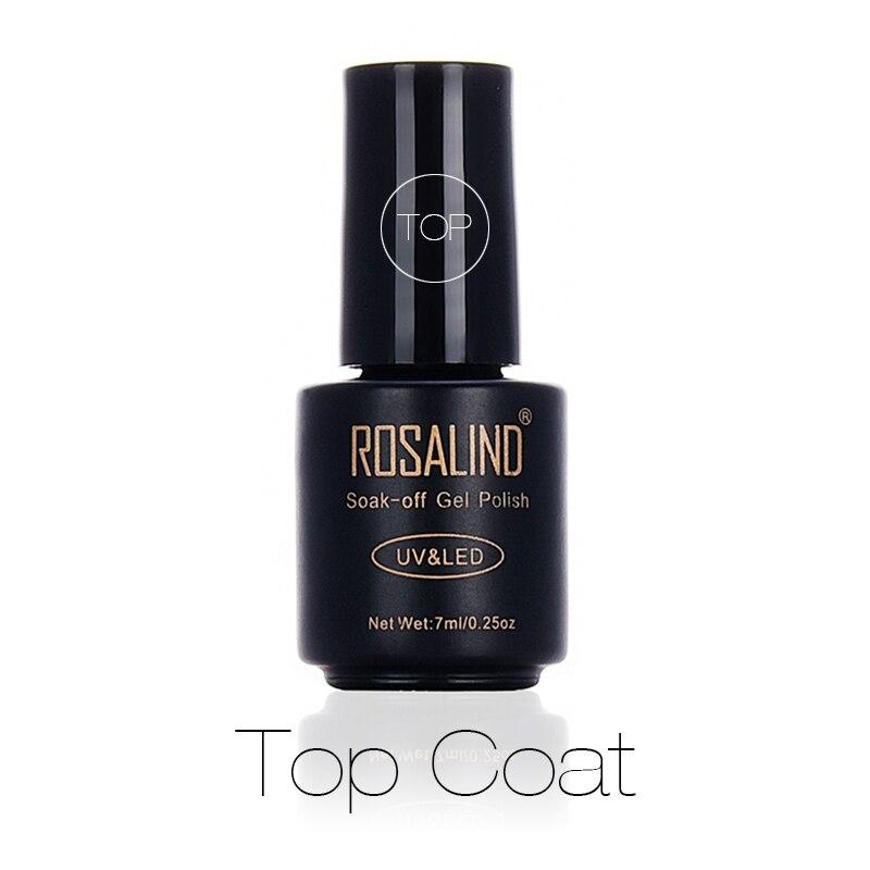 Гель-лак для ногтей ROSALIND, 7 мл, верхнее покрытие, для защиты поверхности ногтей, для дизайна ногтей, долговечный прозрачный УФ-светодиодный Гель-лак