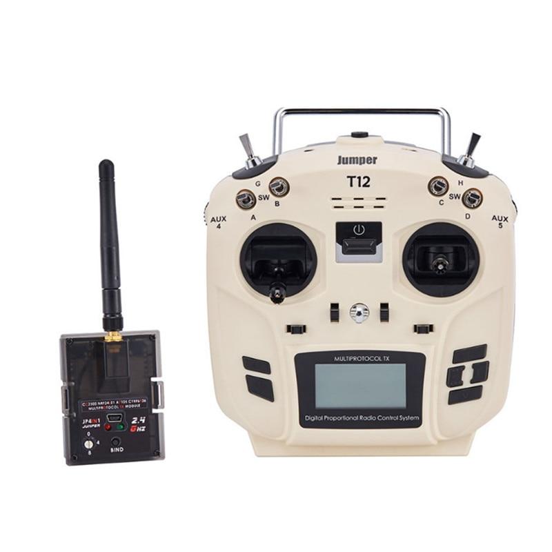 лучшая цена Jumper T12 OpenTX 16CH Radio Transmitter with JP4-in-1 Multi-protocol RF Module for Frsky JR Flysky DEVO Esky WLtoys Hubsan