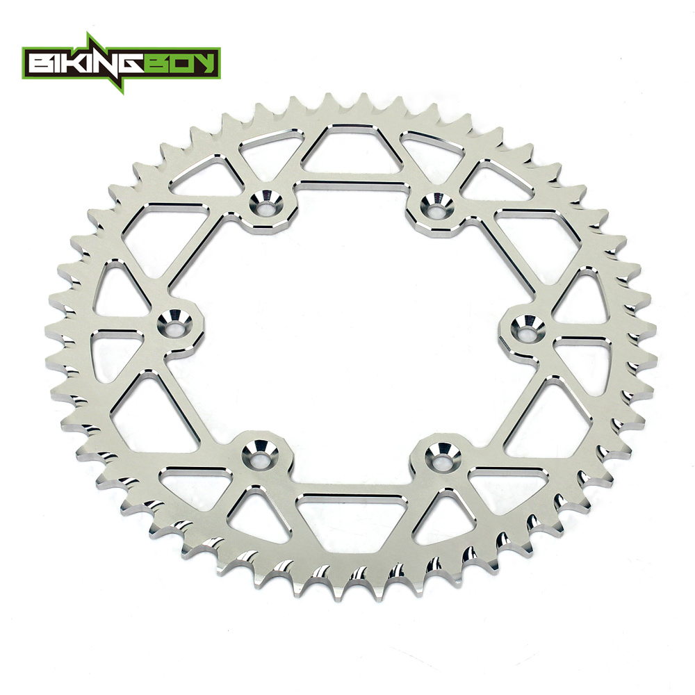 Motocross Dirt Bike 48 49 50 51 52 Tooth Chain Rear Sprocket for HUSQVARNA TC250 TE300 FC350 FE350 TC TE FC FE 250 300 350 2014 retro tinplate metal motocross models collection classic handmade arts and crafts dirt bike model