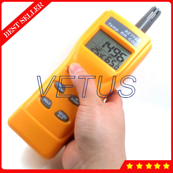 AZ7755 Handheld Carbon Dioxide Meter Detector Digital CO2 Analyzer for Temperature Humidity DP WB tester asus crosshair iv extreme desktop motherboard 890fx socket am3 ddr3 sata3 usb3 0 atx