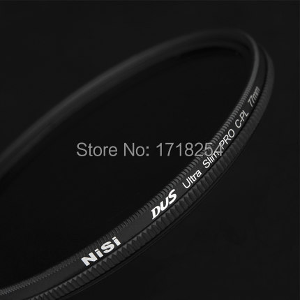 NiSi DUS Ultra 77mm Slim Circular Polarizer Polarising CPL Filter special thin-film technology nisi 37mm pro cpl ultra thin circular polarizer lens filter for nikon canon more black grey