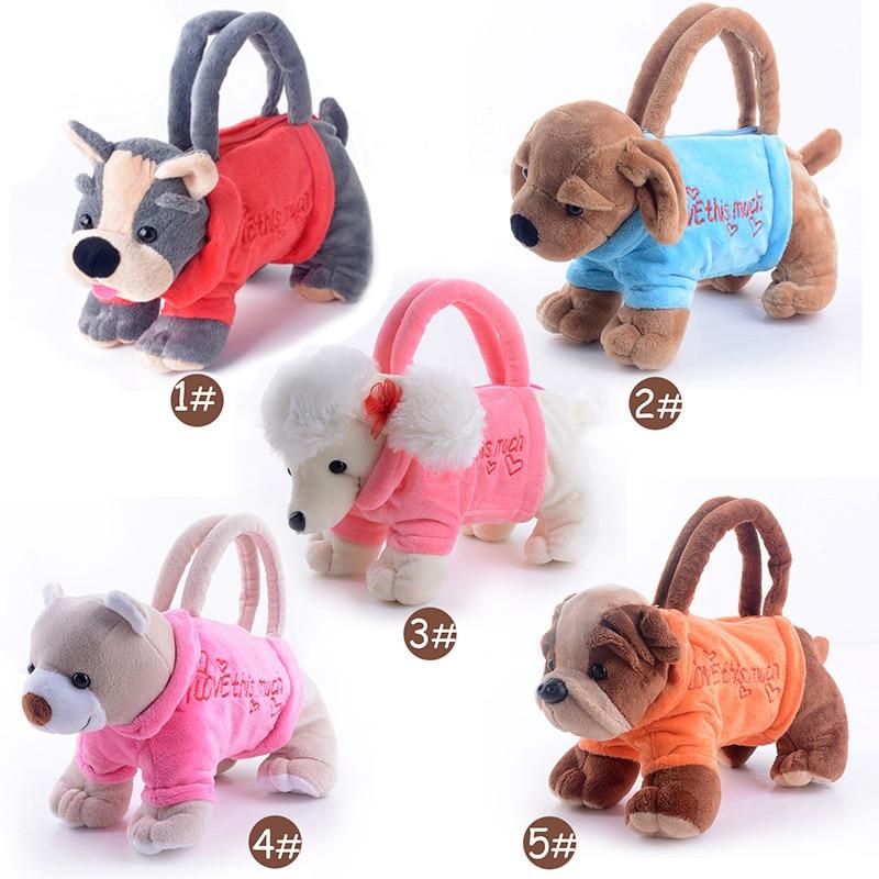 Çocuklar için peluş Çanta Dolması Hayvan Oyuncaklar Kız Çocuklar Hediyeler için Çanta Çanta Çocuklar için Köpekler Çanta 3D çanta