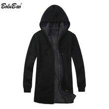 BOLUBAO ยี่ห้อผู้ชาย Cardigan เสื้อกันหนาวเสื้อลำลอง Slim Fit Plus กำมะหยี่เสื้อกันหนาวผู้ชายฤดูหนาวใหม่ชาย Hooded ถักเสื้อกันหนาว