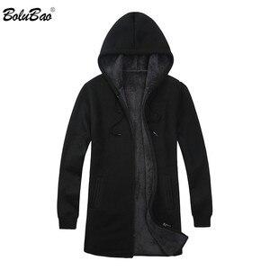 Image 1 - BOLUBAO ยี่ห้อผู้ชาย Cardigan เสื้อกันหนาวเสื้อลำลอง Slim Fit Plus กำมะหยี่เสื้อกันหนาวผู้ชายฤดูหนาวใหม่ชาย Hooded ถักเสื้อกันหนาว
