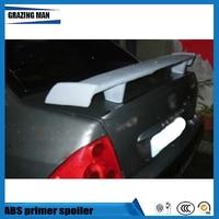 ABS Primer Color Rear Trunk Spoiler For Peugeot 307 Sedan Spoiler
