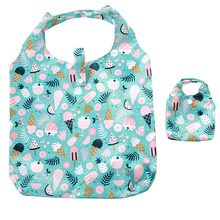 New Ice cream Oxford Foldable Shopping Bag Handy Reusable Tote Pouch Recycle Storage Folding pocket