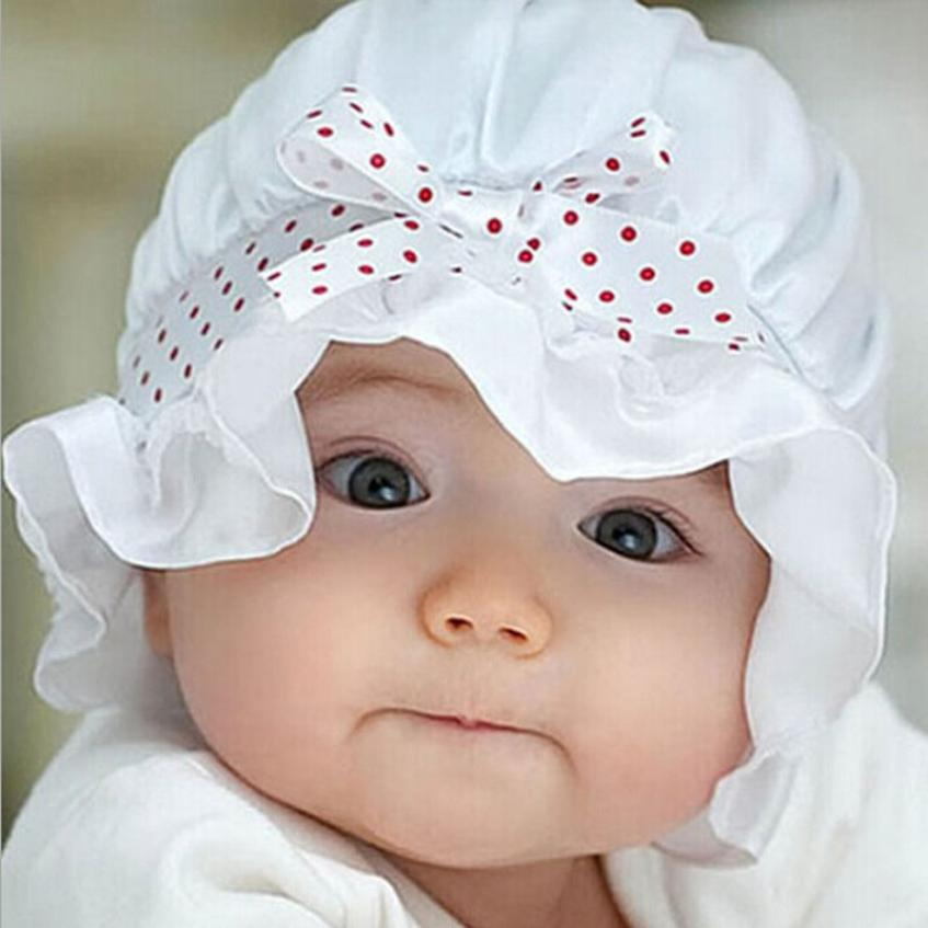 Cheap Sale Baby Unisex Hat 2color Infant Outdoor Lace Dot Visor Silk Sun Cap Bow Beach Bucket Hats Headwear Caps Brim Sun Hat 18apr13 Strong Packing Mother & Kids Accessories