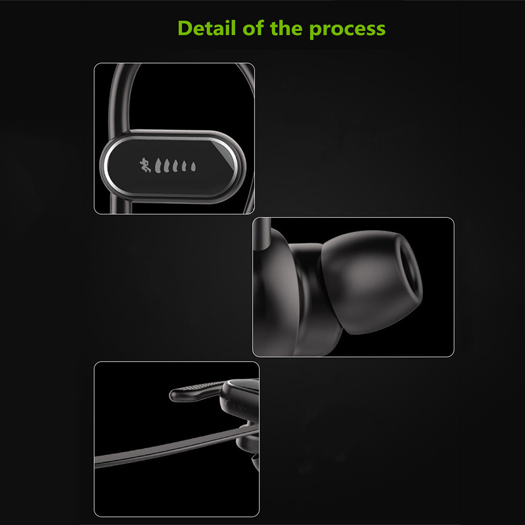 2019 Bluetooth 4.1 Wireless Headphone Stereo Sports Earbuds In-Ear Headset     27#