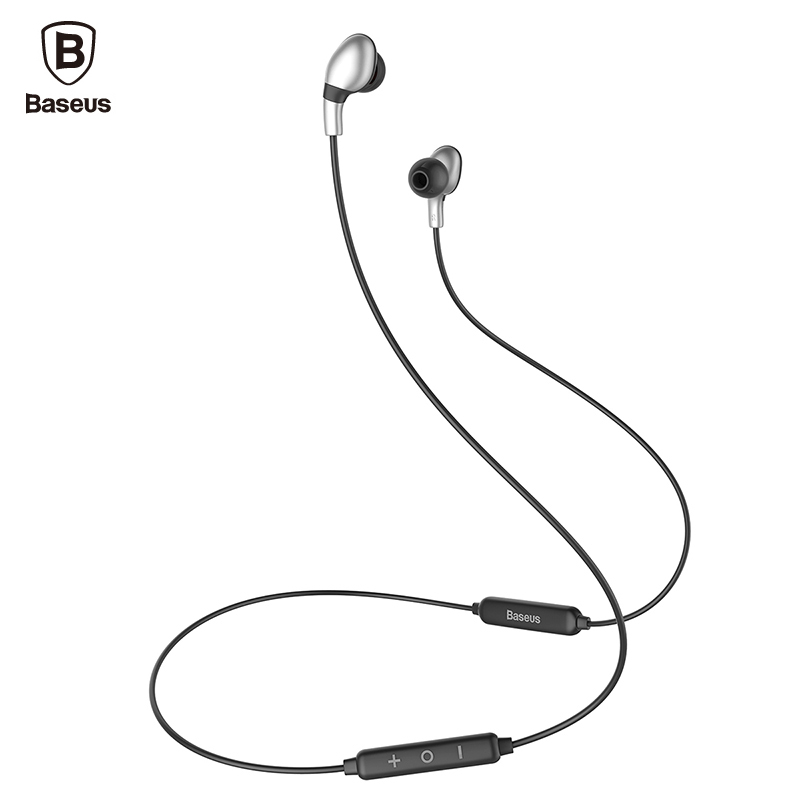 Baseus S04 Wireless Earphone V4.1 Auriculares Bluetooth Headphone with Mic Stereo Casque Earpiece Sports Headset For Phone free shipping wireless bluetooth headset sports headphone earphone stereo earbuds earpiece with microphone for phone