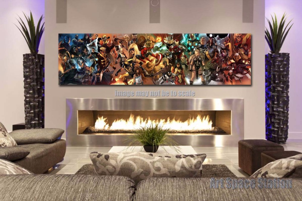 AVENGERS Superhero Marvel Comics Movie Poster Print 60x16inch GIANT Canvas Wall  Art Pictures For Living Room