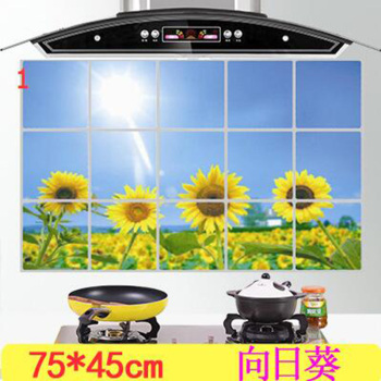 kitchen Anti-smoke Decorative wall sticker Resistant to high aluminum foil tiles cabinet-Free Shipping