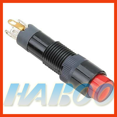 HABOO 8mm mini switch reset, momentary push button switch 1NO+1NC 3A 250V round head,square head,rectangular head