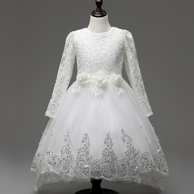 2443d6944 Princess Baby Girls Toddler Lace Tutu Wedding Communion Dress 2018 ...