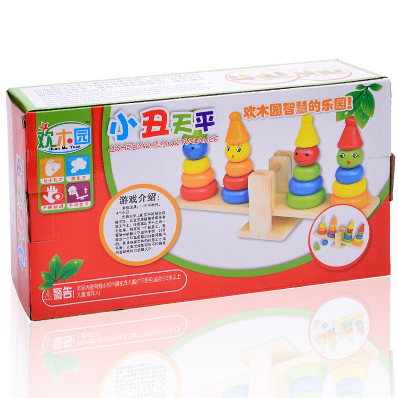 ФОТО Baby Education Toys Colorful Clown Balance Cute Block Toys For Children Intelligence Toys