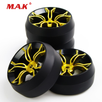 4Pcs/Set 1:10 Scale Drift Tires Wheel Rim Offset 6mm fit HPI HSP Racing RC Drift Car Accessories image