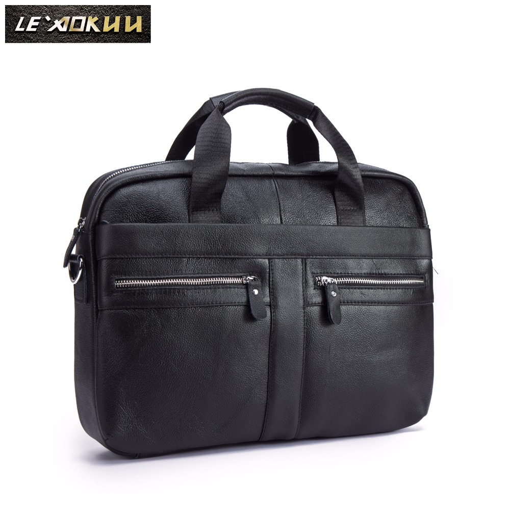 Men Oil Waxy Leather Antique Design Black Business Briefcase 16 Laptop Document Case Attache Messenger Bag Tote Portfolio 1115bMen Oil Waxy Leather Antique Design Black Business Briefcase 16 Laptop Document Case Attache Messenger Bag Tote Portfolio 1115b