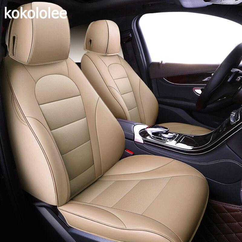 Kokololee auto personnalisées en cuir véritable housse de siège de voiture Pour vw golf 4 5 VOLKSWAGEN polo 6r 9n passat b5 b6 b7 Touareg Tiguan voiture sièges