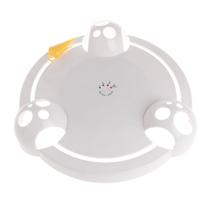 New Arrival Cat Teaser Electric Plate Pet Toys Dog Kitten Puppy Artificial Mouse 360 Rotation Automatic Funny Interactive Play
