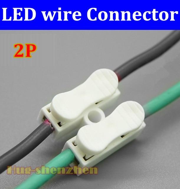 200pcs design clip spring connector 2pin led strip light wire rh aliexpress com Home LED Light Strip Wiring-Diagram LED Strip Light 12V Wiring Diagram
