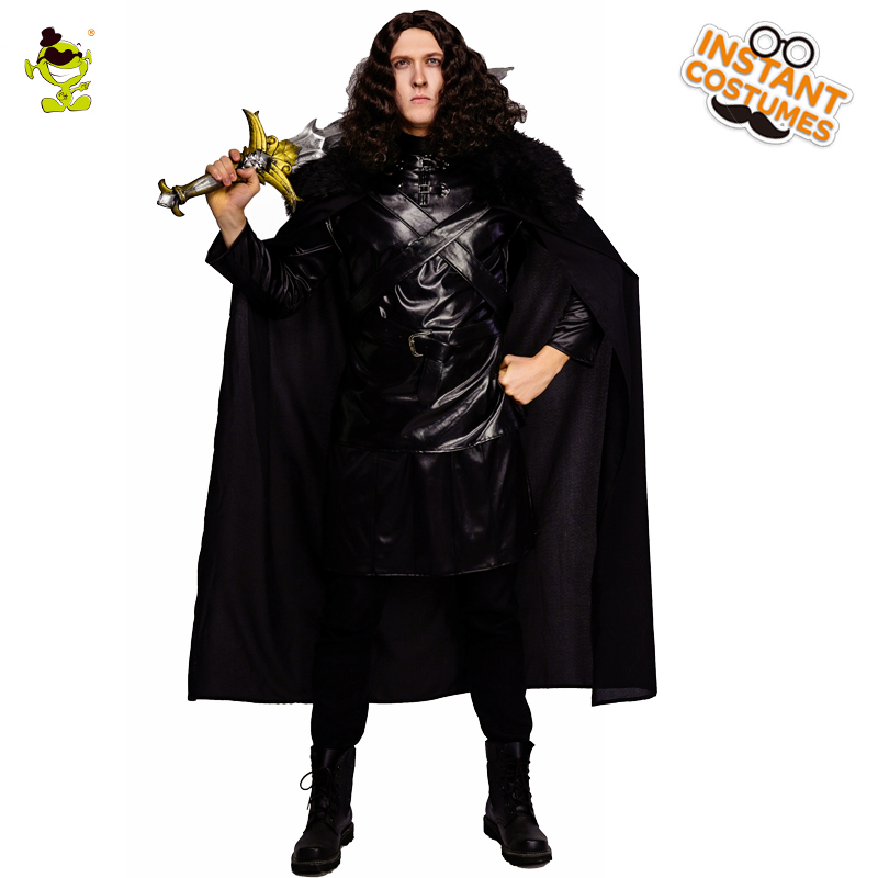 New Arrival Men s Cosplay Jon Snow Costume Play the Game Cosplay Black the King of